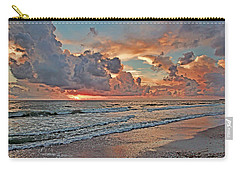 Carry-all Pouch featuring the photograph Evening Clouds by HH Photography of Florida