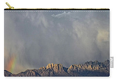 Carry-all Pouch featuring the photograph Evening Drama Over The Organs by Kurt Van Wagner