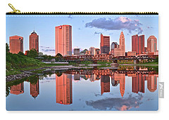 Carry-all Pouch featuring the photograph Evening Falls In Columbus by Frozen in Time Fine Art Photography