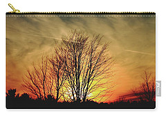 Carry-all Pouch featuring the photograph Evening Fire by Bruce Patrick Smith