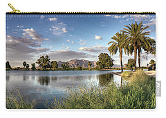 Carry-all Pouch featuring the photograph Evening Fishing by Lynn Geoffroy