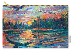 Carry-all Pouch featuring the painting Evening Flight by Kendall Kessler