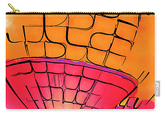 Carry-all Pouch featuring the digital art Evening Glow Red And Yellow Watercolor by Kirt Tisdale