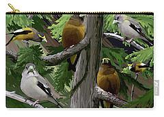 Evening Grosbeaks Carry-all Pouch