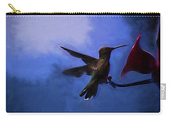 Evening Hummingbird Carry-all Pouch by Bonnie Bruno