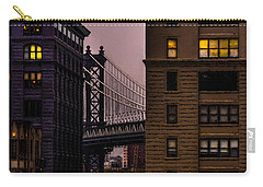 Carry-all Pouch featuring the photograph Evening In Dumbo by Chris Lord