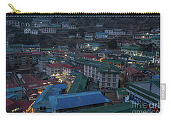 Carry-all Pouch featuring the photograph Evening In Namche Nepal by Mike Reid