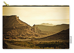 Carry-all Pouch featuring the photograph Evening In The Canyon by Marilyn Hunt