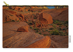 Evening In The Valley Of Fire Carry-all Pouch