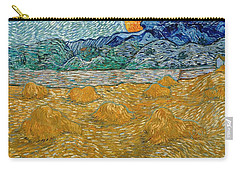 Carry-all Pouch featuring the painting Evening Landscape With Rising Moon by Van Gogh