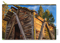 Evening Light On An Old Cabin Carry-all Pouch by James Eddy