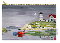 Carry-all Pouch featuring the painting Evening Lighthouse by Phyllis Kaltenbach