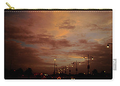 Evening Lights On Road Carry-all Pouch