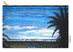Tropical Evening Carry-all Pouch by Mary Ellen Frazee
