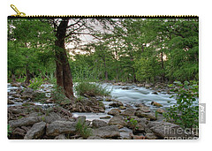 Evening On The Guadeloupe River  Carry-all Pouch by Kelly Wade