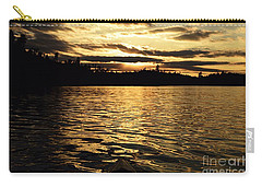 Carry-all Pouch featuring the photograph Evening Paddle On Amoeber Lake by Larry Ricker