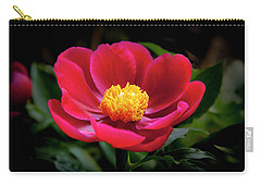 Carry-all Pouch featuring the photograph Evening Peony by Charles Harden