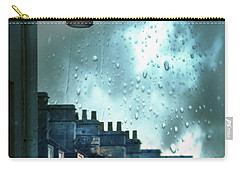 Evening Rainstorm In The City Carry-all Pouch by Jill Battaglia