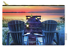 Carry-all Pouch featuring the photograph Evening Romance by Debra and Dave Vanderlaan