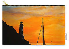 Carry-all Pouch featuring the painting Evening Serenity by Alan Lakin