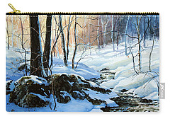 Carry-all Pouch featuring the painting Evening Shadows by Hanne Lore Koehler