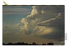Carry-all Pouch featuring the photograph Evening Sky by Ann E Robson