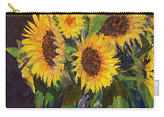 Evening Table Sun Flowers Carry-all Pouch