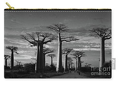 evening under the baobabs of Madagascar bw Carry-all Pouch