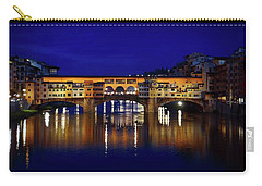 Evening View Of Ponte Vecchio Carry-all Pouch