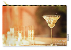 Evening With Martini Carry-all Pouch by Ekaterina Molchanova