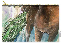 Ever Green  Earth Horse Carry-all Pouch
