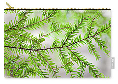 Carry-all Pouch featuring the photograph Evergreen Abstract by Christina Rollo