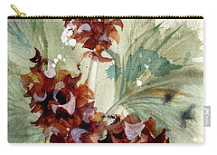 Carry-all Pouch featuring the painting Evergreen Branch by Dawn Derman