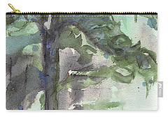 Carry-all Pouch featuring the painting Evergreen by Dawn Derman