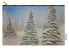 Evergreens In Snow  Carry-all Pouch