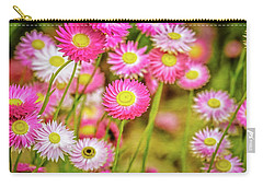 Carry-all Pouch featuring the photograph Everlasting Daisies, Kings Park by Dave Catley