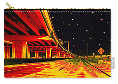 Carry-all Pouch featuring the digital art Are We There Yet by Wendy J St Christopher