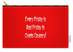 Carry-all Pouch featuring the digital art Every Friday Is Red Friday In Chiefs Country 2 by Andee Design
