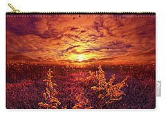 Carry-all Pouch featuring the photograph Every Sound Returns To Silence by Phil Koch