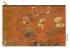 Evocation Of Butterflies Carry-all Pouch by Odilon Redon