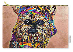 Carry-all Pouch featuring the tapestry - textile Ewok Star Wars Afrofuturist Collection by Apanaki Temitayo M