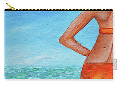 Exhale Softly Carry-all Pouch by Donna Blackhall