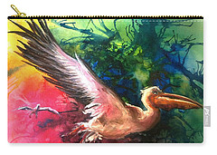 Carry-all Pouch featuring the painting Exhilarated - Original Sold by Therese Alcorn