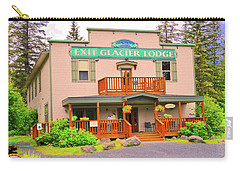 Exit Glacier Lodge Carry-all Pouch by Joe Burns