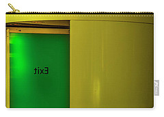 Carry-all Pouch featuring the photograph Exit by Paul Wear