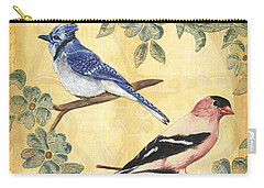 Exotic Bird Floral And Vine 1 Carry-all Pouch