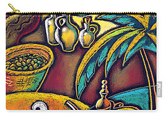 Carry-all Pouch featuring the painting Exotic East, Coffee And Olive Oil by Leon Zernitsky
