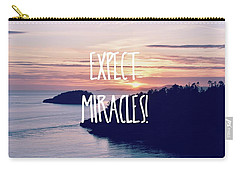 Expect Miracles Carry-all Pouch by Robin Dickinson