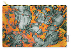 Exploded Fall Leaf Abstract Carry-all Pouch