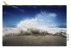 Exploding Seas Carry-all Pouch by Mark Andrew Thomas